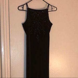 Long Black Elegant Velvet Dress NWOT